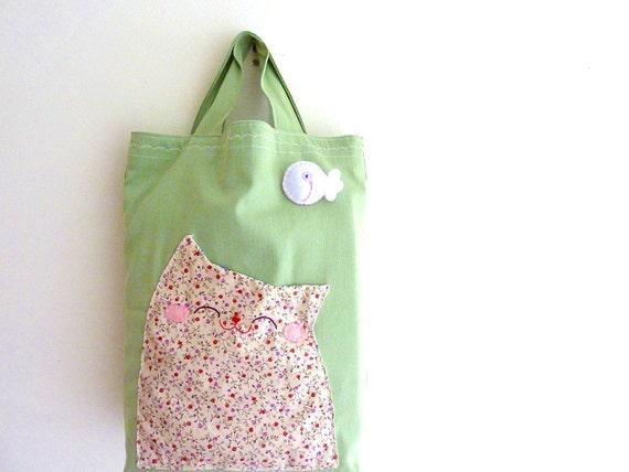 Cat Tote Bag, Cat Bag, Shoulder Bag