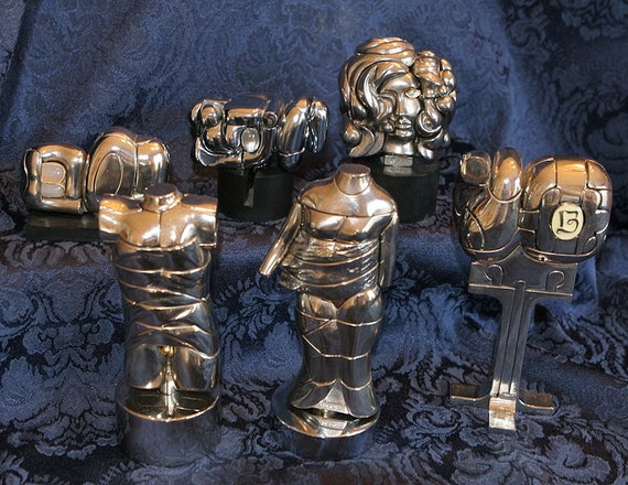 RESERVED Miguel Berrocal Set 6 Minis: Extremely Rare Complete Set of Sculptures with Books & Stands