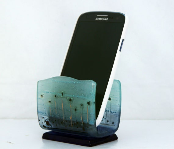 fused glass iPhone stand, smartphone stand, docking station