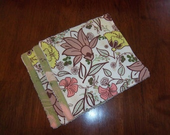 Botanica Floral Re-usable Wipes / Washcloths