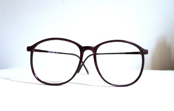 Urban Camouflage in Burgundy/ Vintage Big Round Eyeglasses/Disco Sunglasses/ Hip Hop - Preppy Frames/ Unisex/  Fey/ Brown Black