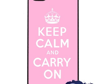 Keep Calm and Carry On, Pink - iPhone Cover, Case