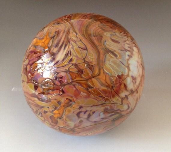 Hand Blown Glass Yard Art and Table Ornament Sun Catcher Globe