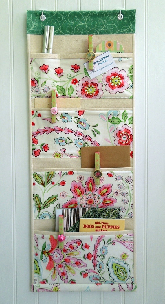 Wall or Door Organizer in a Cottage Chic Design