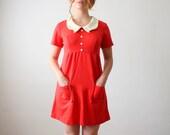 vintage 1960's red mini dress