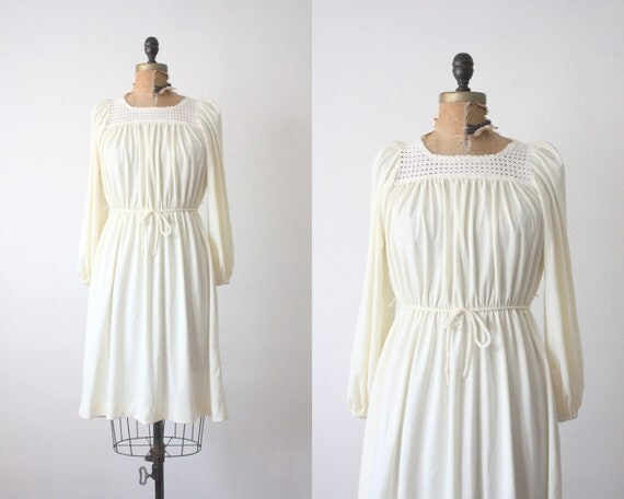 1970's white day dress