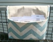 Coupon Organizer /Budget Organizer Holder  / Attaches To You Shopping Cart - Blue Natural Chevron