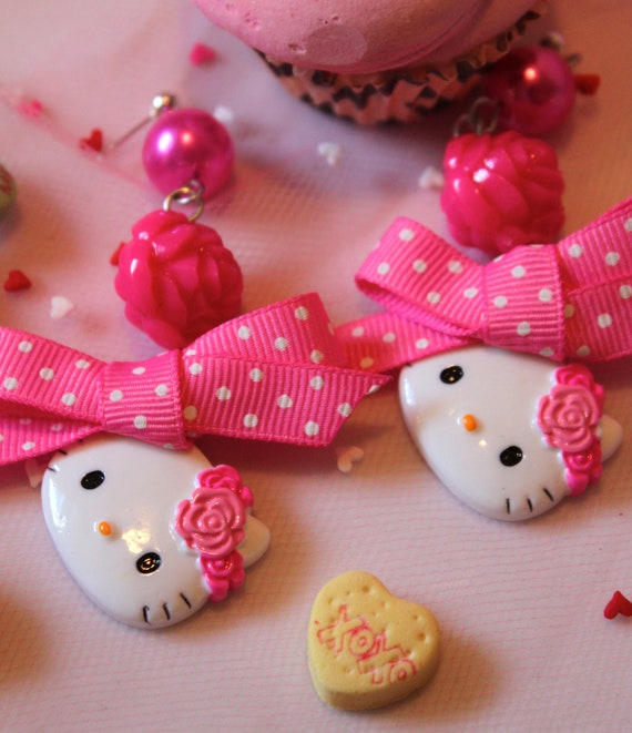 Pink and Pretty Hello Kitty Earrings