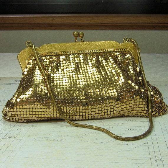 Vintage Gold Metal Mesh Purse
