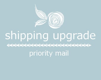Shipping Upgrade option - Priority Mail