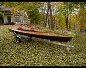 Beautiful hand-crafted touring Kayak and trailer