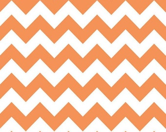End of Bolt- Chevron Fabric in Orange by Riley Blake Designs- 15 inches