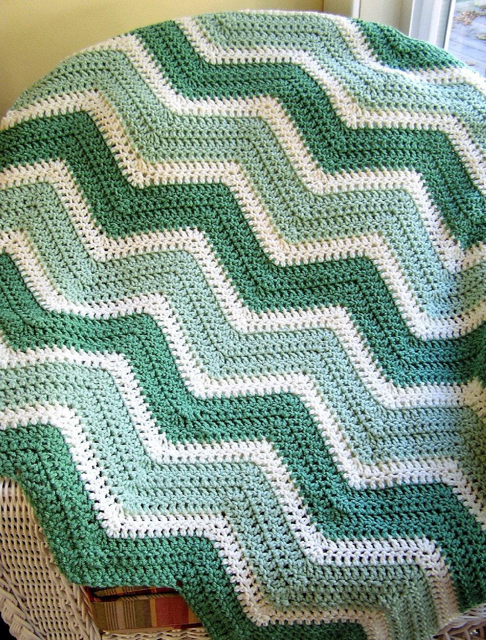 New Chevron Zig Zag Baby Blanket Afghan Wrap Crochet Knit Lap