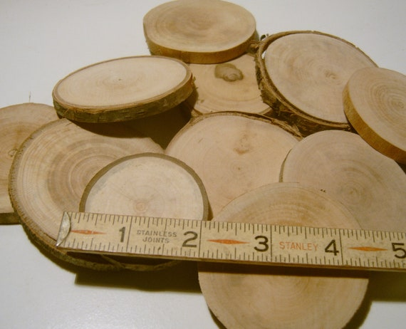 40 Assorted  Blank Tree Branch Slices 1 - 2 Drilled