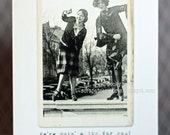 Vintage Image Card, Celebration, Congratulations, Doing a Jig for You