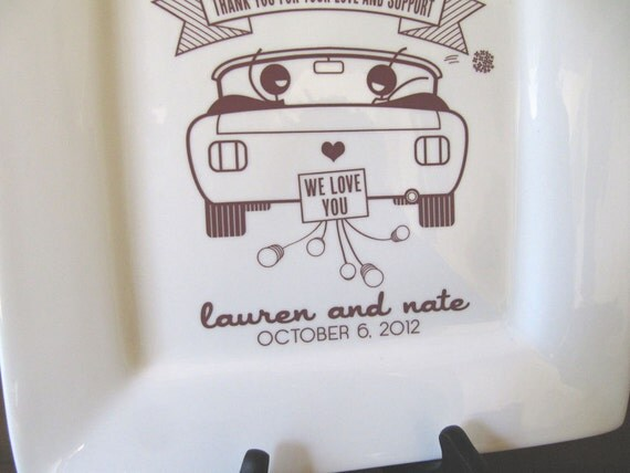 Parent Thank You Platter--Personalized Gift from Bride and Groom RUSH LISTING