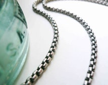 Heavy sterling silver necklace chain Silver chain Heavy chain Gift for him Unisex chain Luxury chain Sterling chain Rolo rounded box chain