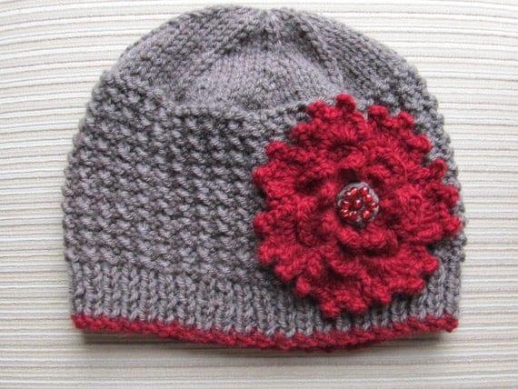 Number 79 KNITTING PATTERN Rice Stitch Hat Adult