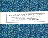 Double Fold Bias Tape - Aviary in Teal from Northcott Fabrics
