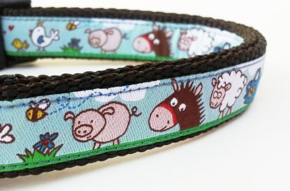 Barn Yard Dog - Dog Collar / Pet Accessories / Handmade / Adjustable