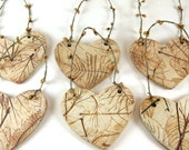 Handmade Ceramic Ornament - Decoration - Botanical Leaves