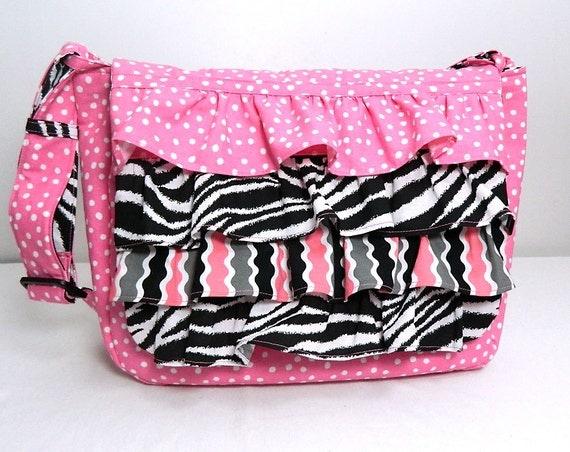 CUSTOM Ruffle Children's Messenger School Bag