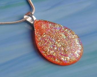 Handmade Dichroic Fused Glass Necklace