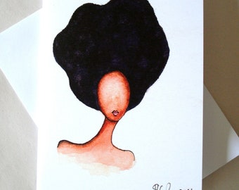African American 'Afro Elegance' Greeting Card