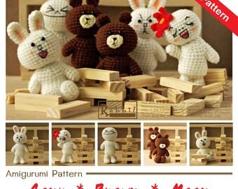PDF Pattern - Amigurumi Emoticon Dolls