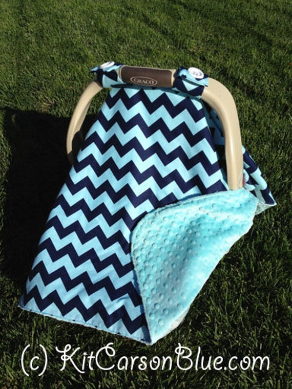 super cute baby car seat covers chevron in by kitcarsonblue. Black Bedroom Furniture Sets. Home Design Ideas