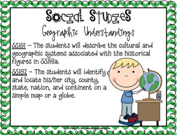 Science & Social Studies Standards for 1st Grade: GEORGIA (primary chevron)