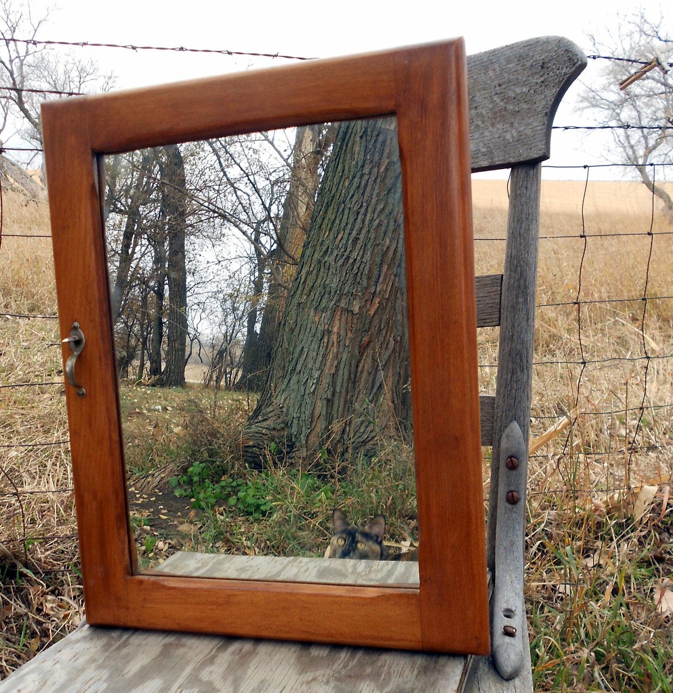 Antique Oak Medicine Cabinet Mirror Bathroom Cabinet Primitive