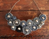 Recycled Jean Bib Necklace No.31