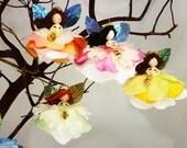 Choose 3 Christmas Angel Ornaments, Holiday Angel Dolls, Flower Fairy Angel Decoration, Nativity Angel, Angel Gift, Angel Fairy