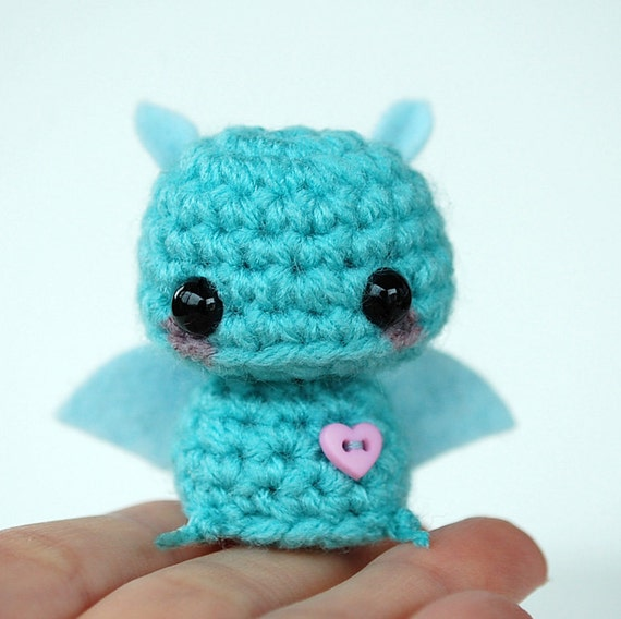 Baby Blue Bat - Kawaii Mini Amigurumi