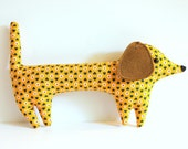 Goldie the handmade plush dachshund - Limited Edition - Made To Order