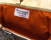 Custom Message Label - Bridesmaids Gift Label - Bridesmaids Clutches Tag