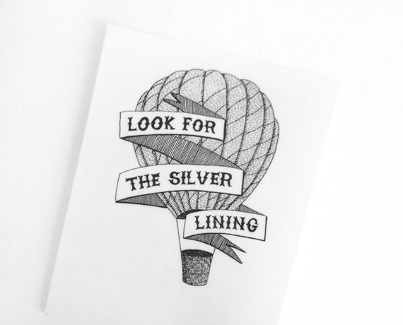1920s temporary tattoo // Look for the silver lining