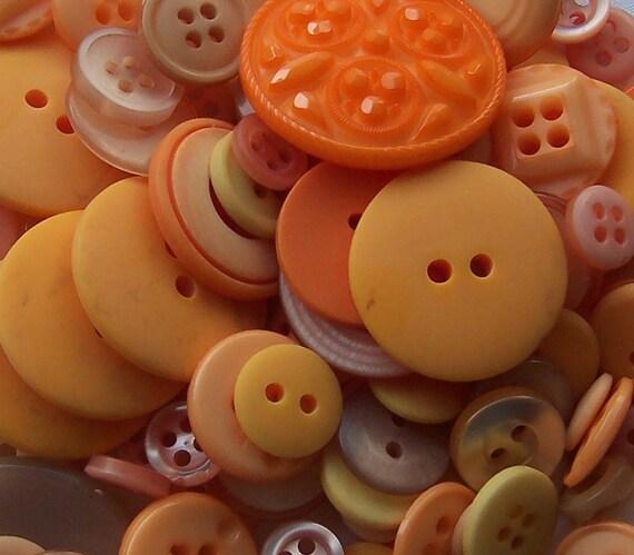 BULK - Buttons - Light Orange - OVER 100