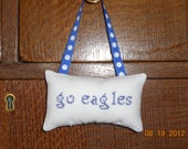 Go Eagles Cross Stitch Hanging Pillow