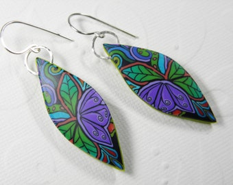 Tropical Tantrum Millefiori Earrings