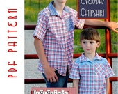 PDF Sewing Pattern:  The Everyday Camp Shirt Big Kid Sizes (Instant Download)
