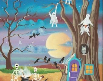 Folk Art Print Halloween Party