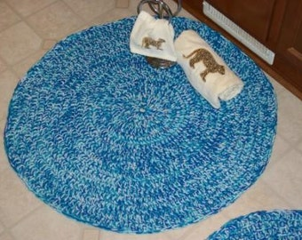 Handmade Rug Set Of Two Bath Or Accent Rugs Ready To