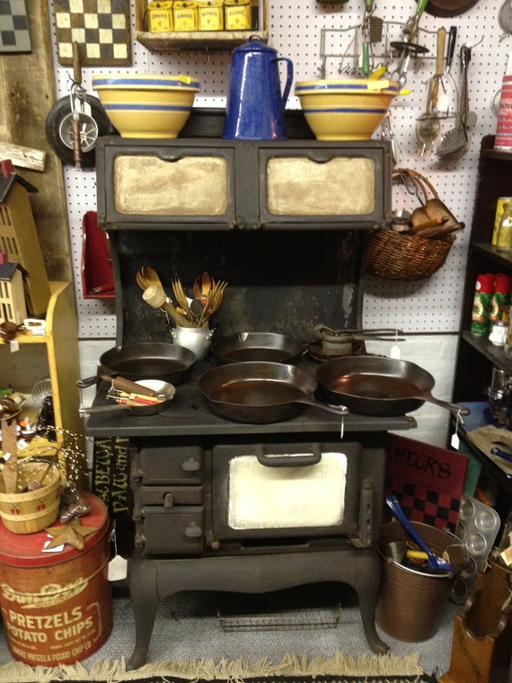 Items Similar To Antique Cast Iron Woodburning Cook Stove