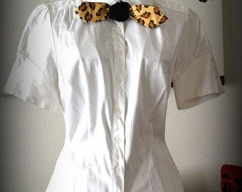 Rockabilly Leopard Print Neck Tie for Women