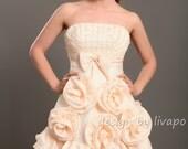 Tulle Strapless Knee Length Fun Wedding Gown - WA197