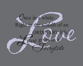 TWO PIECE Love gives us a Fairytale Vinyl Wall Decal (D-014)