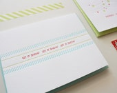 Letterpress Holiday Cards - Let it Snow