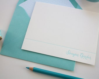 Personalized Bridesmaids Gift - 4 Sets of 12 Letterpress Notecards